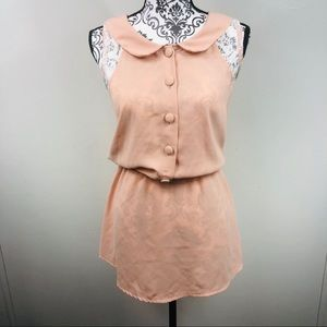 Adorable baby doll sleeve dress with lace detail